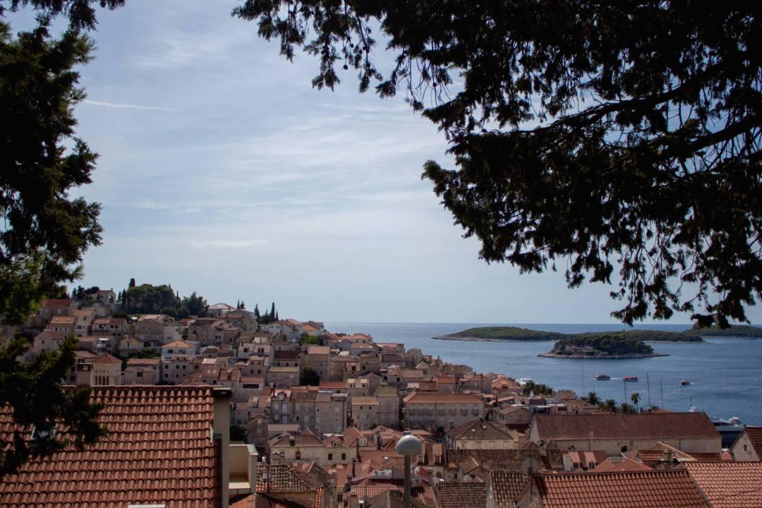 red tiled rooftops in hvar old town