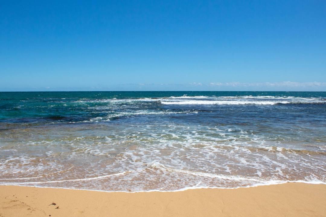 waves on penguin island beach