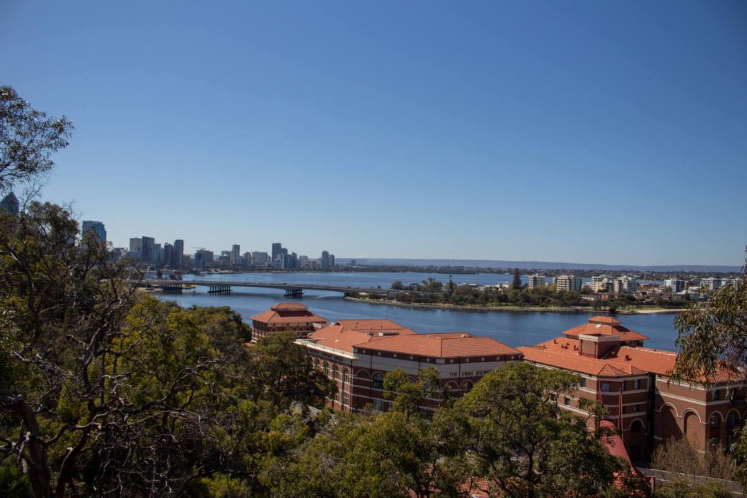 view over swan river from kings park