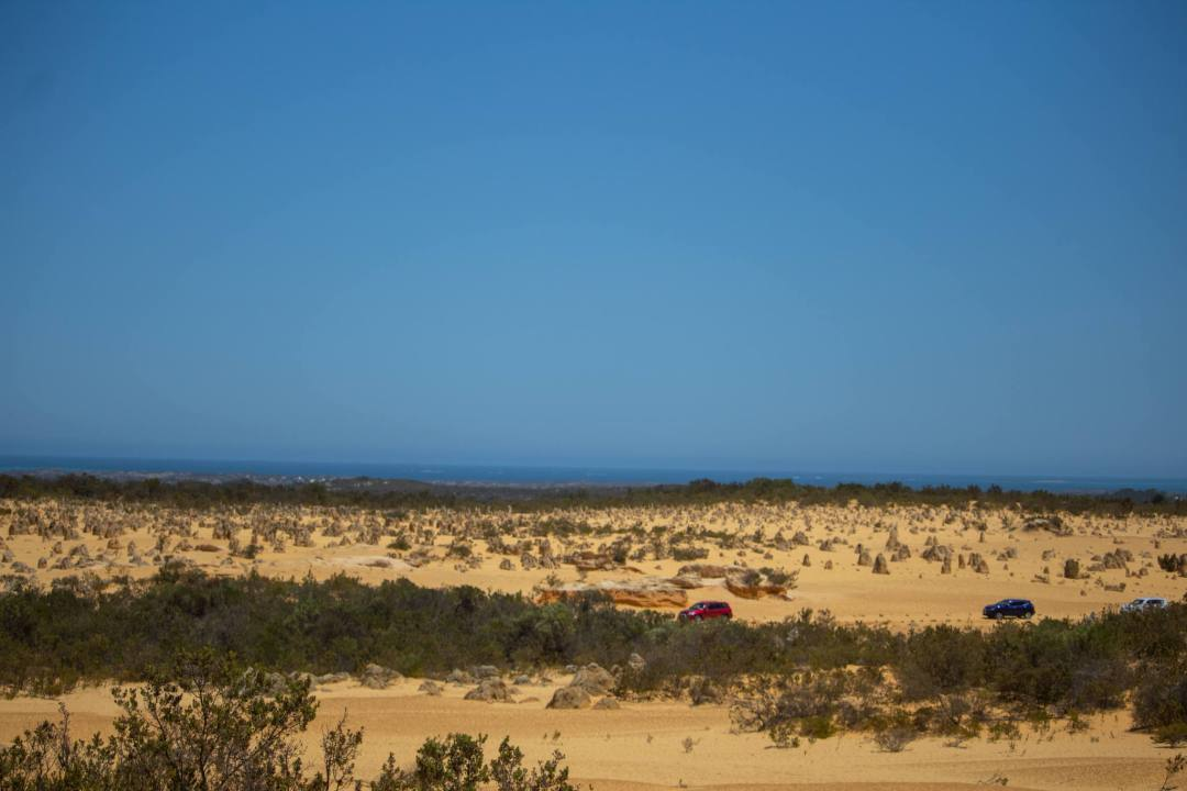 view over the pinnacles desert and sea