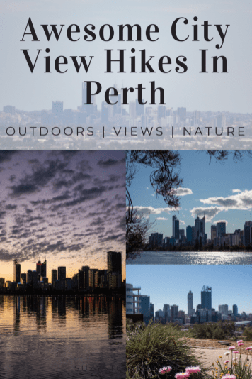 collage of perth city views from short hikes