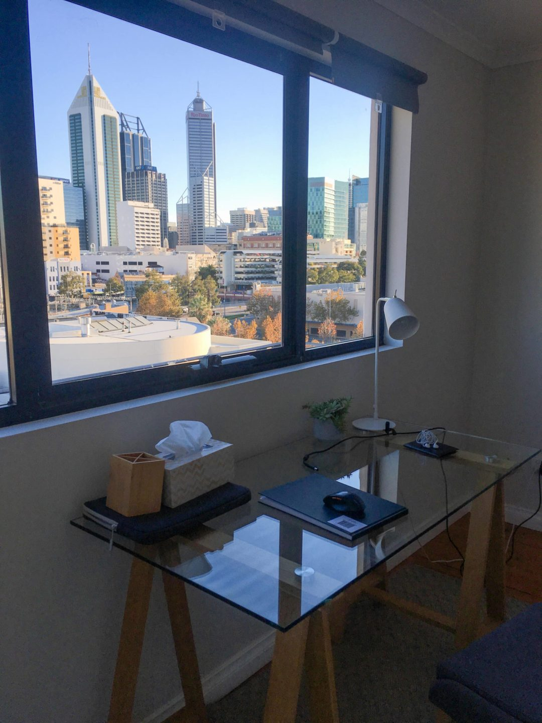 view of perth city from northbridge home office