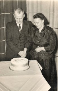 My maternal grandparents David Skinner Ramsay and Margaret Cruden celebrating their 25th wedding anniversary.