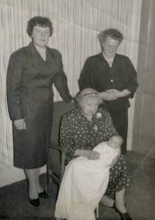My christening; four generations of strong women. My mother, grandmother, great-grandmother and - as it turns out - me.