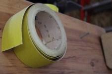 Circle Yellow Tape Sand Paper