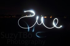 Writing backwards in the air with a flashlight... not as easy as I expected! :)