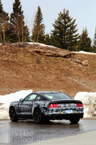 Future model Ford Mustang on Molas Pass, Colorado