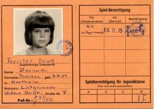 Wolfgang Hinz - Spielerpass_Dowe_Thorsten_Jugend_SVL
