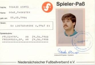 Wolfgang Hinz - Spielerpass_Dowe_Thorsten_SVL