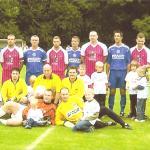 Gemeinsames Foto mit den Spielern von Hertha BSC