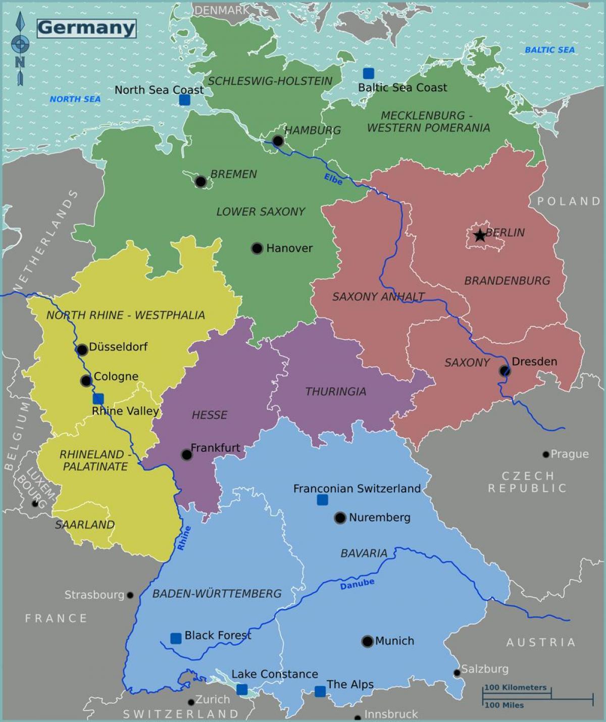 Karta Over Tyskland