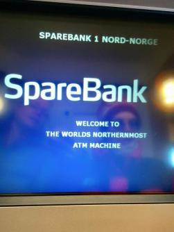 The northernmost ATM in the world.