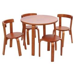 Table With Chairs Tall Drafting Chair Play Me Toddler And Set Svan In Cherry