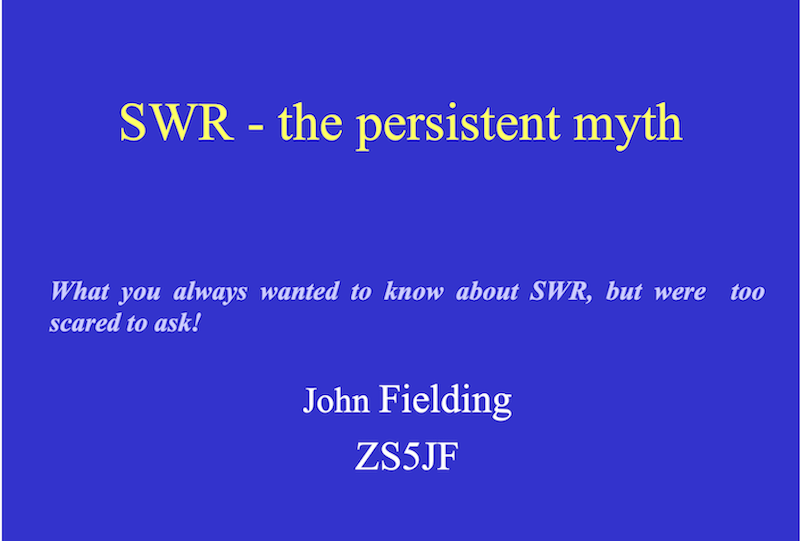 SWR – The Persistent Myth