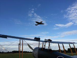 Spitfire over Avro 504k
