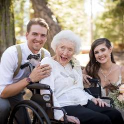 Chris, Grandma and I at our wedding in 2018