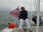 Suzane Sailing on Art's 77th Bday Sail