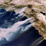 Nasa Space Photo of Southern California Wildfires