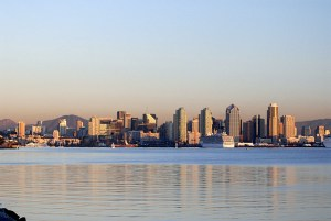 San Diego Skyline - Golden Light
