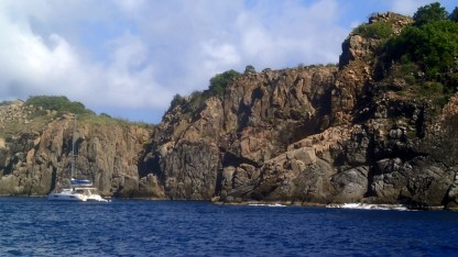 West Dog island - great snorkeling which we skipped on the way to North Sound Virgin Gorda