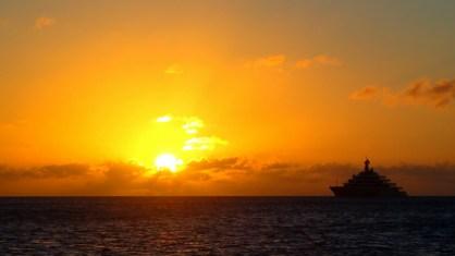 Sunset from Simpson Bay, St Maarten