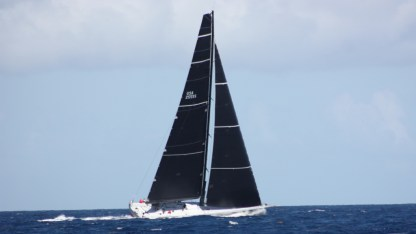 On the way to Les Saintes, this Caribbean 600 racer came flying by us like we were drifting. Didn't realize we were on the race course