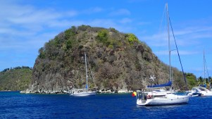 Pain de Sucre protecting us from the high winds in Les Saintes