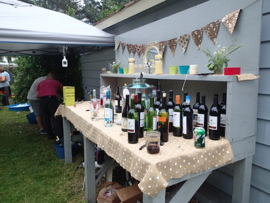 Wine and Kegs area