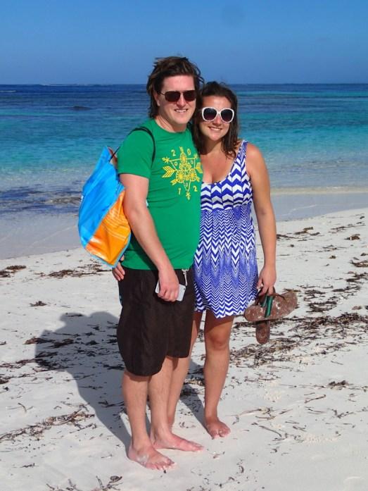 Honeymooners day at the beach