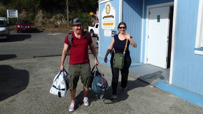 Keith and Taryl road weary but ready to go sailing