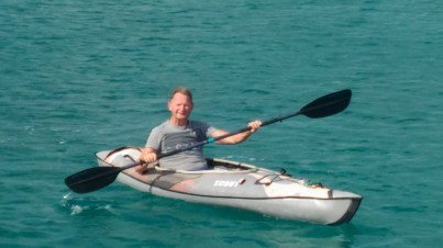 David out for a paddle