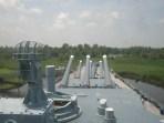 view forward from bridge deck