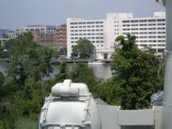 Cheshire from the deck of USS North Carolina