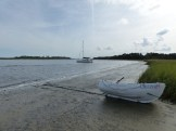dinghy landing, low tide