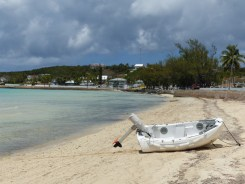 dinghy on the beach, Governor's Harbour