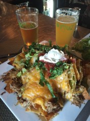 Pork Nachos and local brews, Ortega'z, Manteo