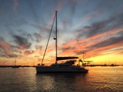 Cheshire at sunset, Great Salt Pond, Block Island