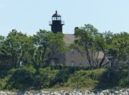 Old Field Point Light, view from Long Island Sound