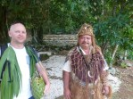 Chief – dress of old time chief of village in the mountain area of the island