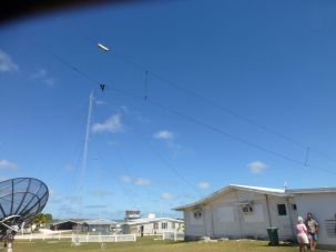 Another view of the wire antenna in foreground. Note the tall one in the background