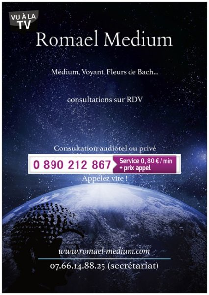 Romael Medium Voyance sans complaisance (une question par mail offerte)