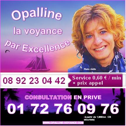 OPALLINE, LA VOYANCE PAR EXCELLENCE AU 01.72.76.09.76 (à partir de 1,90€/mn)