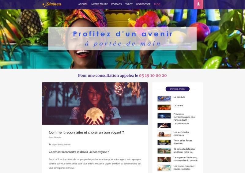 Cabinet de Voyance Divinea.fr, consultations privées par tél