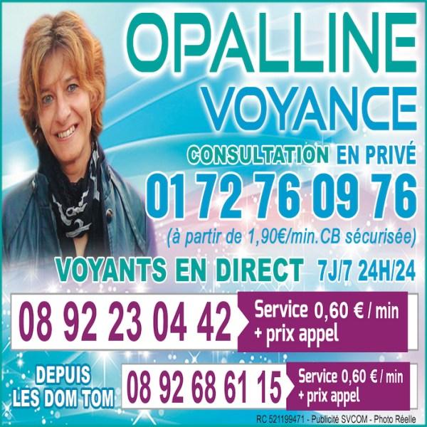 OPALLINE, LEADER DE LA VOYANCE PAR TELEPHONE AU 0892 23 04 42 (0,60€/mn)
