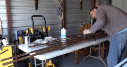Varnishing the boards