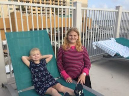 Kids on the Pool Deck at Margaritaville