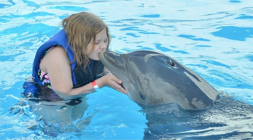 Chasity Swims with Dolphins