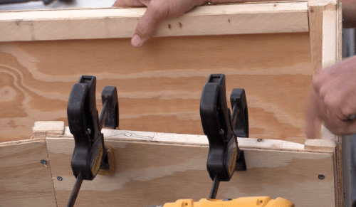 Adding Wooden supports on the top of the box