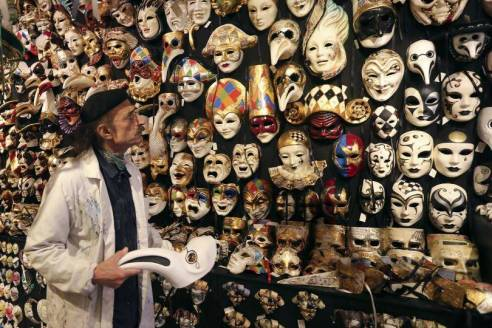 Masks are a common Tradition of Mardi Gras