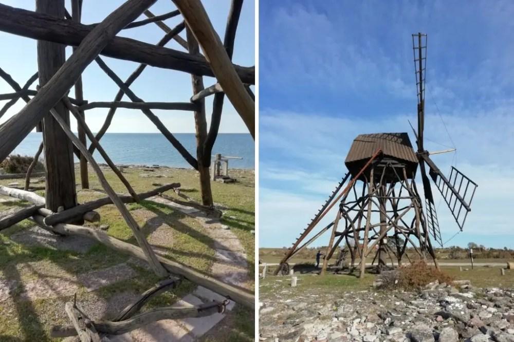 El molino de viento de Jordhamn en Öland - Svea y Pablo